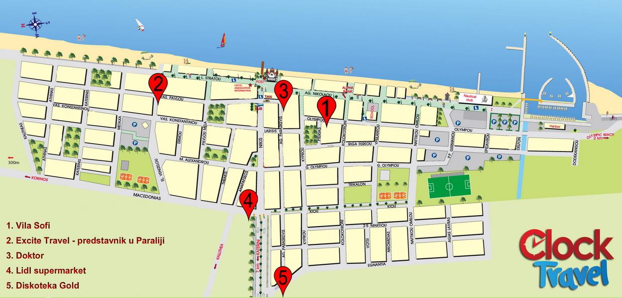 beograd paralija mapa Letovanje Paralija   Vila Sofi   Clock Travel beograd paralija mapa